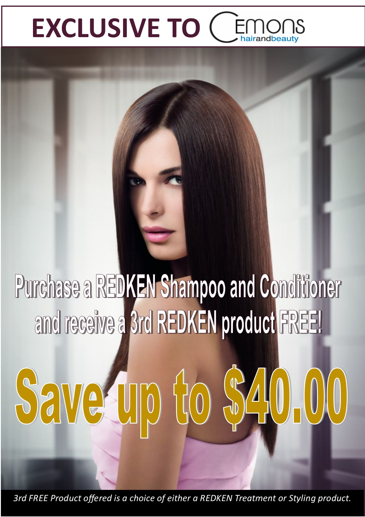 Redken Buy 2 Get 3 Offer A4